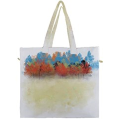 Colorful Tree Landscape In Orange And Blue Canvas Travel Bag by digitaldivadesigns