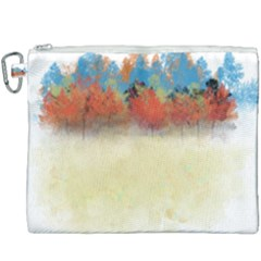Colorful Tree Landscape In Orange And Blue Canvas Cosmetic Bag (xxxl) by digitaldivadesigns