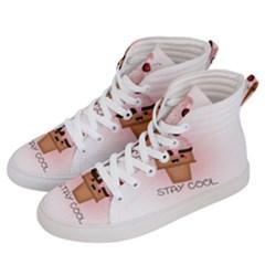 Stay Cool Men s Hi Top Skate Sneakers by ZephyyrDesigns