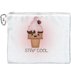 Stay Cool Canvas Cosmetic Bag (xxxl) by ZephyyrDesigns