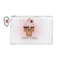 Stay Cool Canvas Cosmetic Bag (medium) by ZephyyrDesigns
