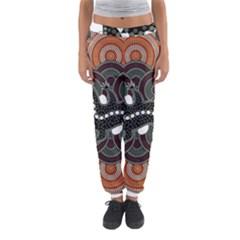 Illustration Based On Aboriginal Style Of Dot Painting Depicting Crocodile Women s Jogger Sweatpants by goodart