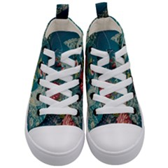 Rich Pattern Flower Kid s Mid Top Canvas Sneakers