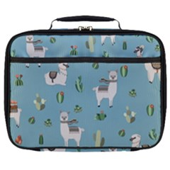 Lama And Cactus Pattern Full Print Lunch Bag by Valentinaart