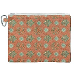Fabric Texture Flower Canvas Cosmetic Bag (xxl) by goodart