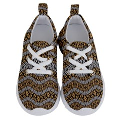 Modern Wavy Geometric Pattern Running Shoes by dflcprints