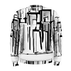 Black And White City Men s Sweatshirt