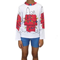 Peanuts Snoopy Kids  Long Sleeve Swimwear by Samandel