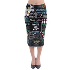 Book Quote Collage Midi Pencil Skirt by Samandel