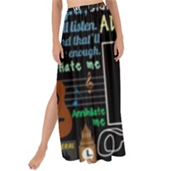 Book Quote Collage Maxi Chiffon Tie Up Sarong