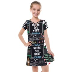 Book Quote Collage Kids  Cross Web Dress