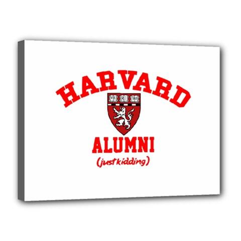 Harvard Alumni Just Kidding Canvas 16  X 12