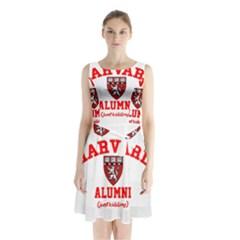 Harvard Alumni Just Kidding Sleeveless Waist Tie Chiffon Dress