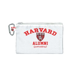 Harvard Alumni Just Kidding Canvas Cosmetic Bag (small) by Samandel