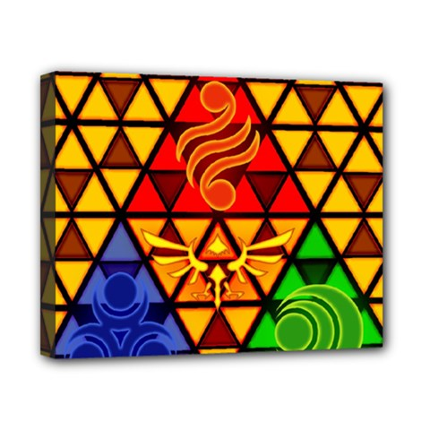 The Triforce Stained Glass Canvas 10  X 8