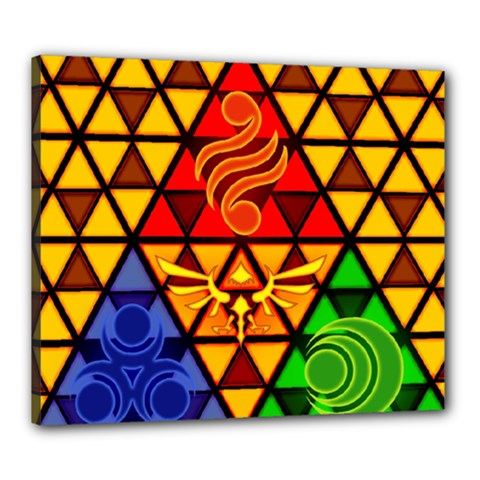 The Triforce Stained Glass Canvas 24  X 20