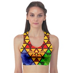 The Triforce Stained Glass Sports Bra