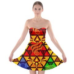 The Triforce Stained Glass Strapless Bra Top Dress