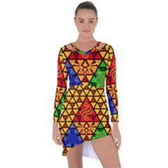 The Triforce Stained Glass Asymmetric Cut Out Shift Dress