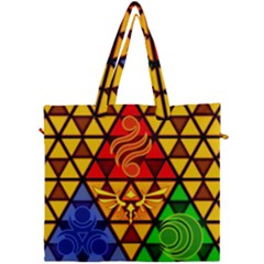The Triforce Stained Glass Canvas Travel Bag by Samandel