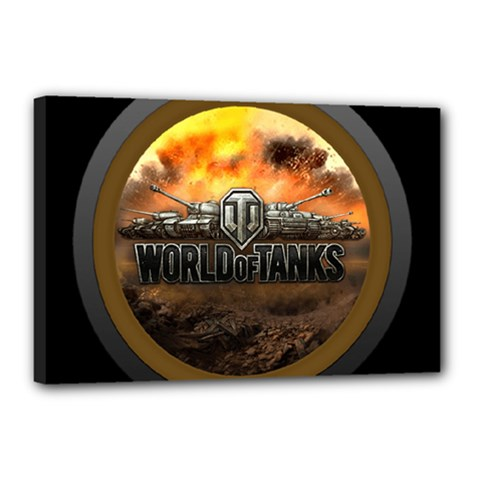 World Of Tanks Wot Canvas 18  X 12