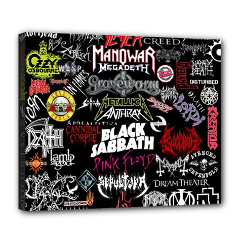 Metal Bands College Deluxe Canvas 24  X 20