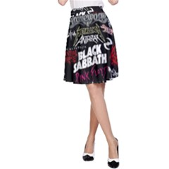 Metal Bands College A Line Skirt