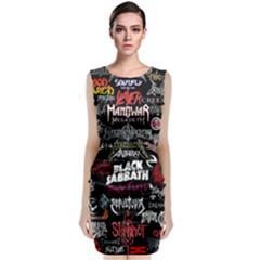 Metal Bands College Classic Sleeveless Midi Dress
