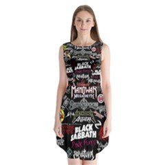 Metal Bands College Sleeveless Chiffon Dress