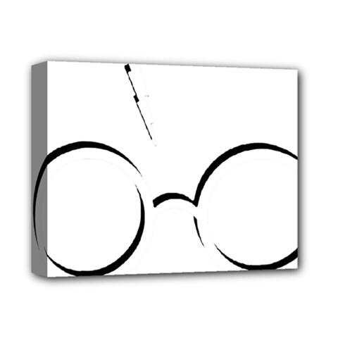 Harry Potter Inspired Lightning Glasses Symbol Deluxe Canvas 14  X 11