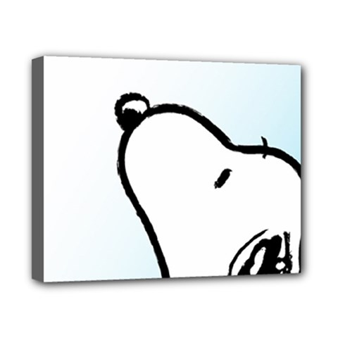 Snoopy Love Canvas 10  X 8  by Samandel