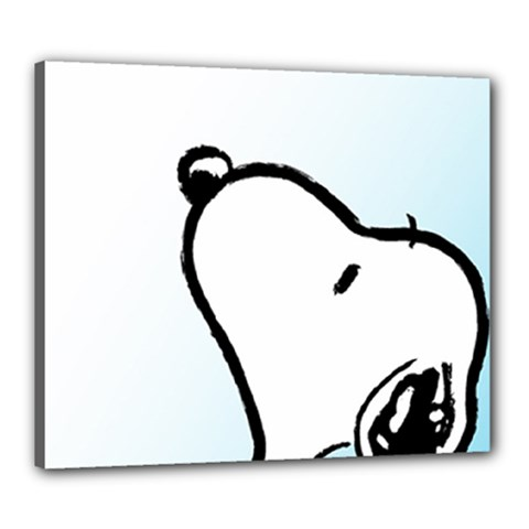 Snoopy Love Canvas 24  X 20
