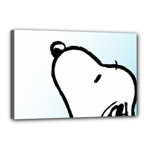 Snoopy Love Canvas 18  X 12