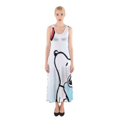 Snoopy Love Sleeveless Maxi Dress