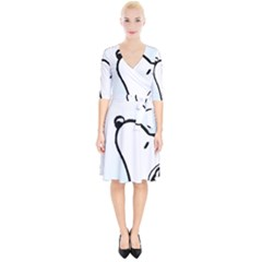Snoopy Love Wrap Up Cocktail Dress