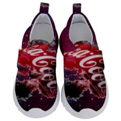 Coca Cola Drinks Logo On Galaxy Nebula Velcro Strap Shoes