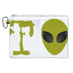 I Want To Believe Canvas Cosmetic Bag (xl) by Samandel