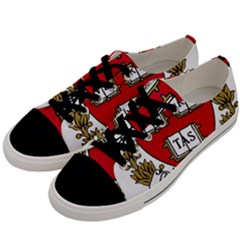 Harvard University Logo Men s Low Top Canvas Sneakers by Samandel