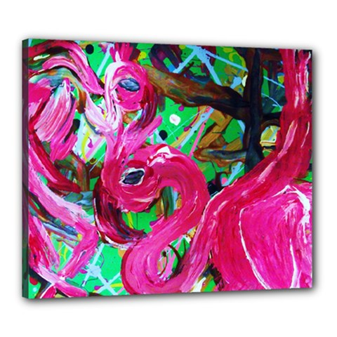 Flamingo   Child Of Dawn 1 Canvas 24  X 20  by bestdesignintheworld