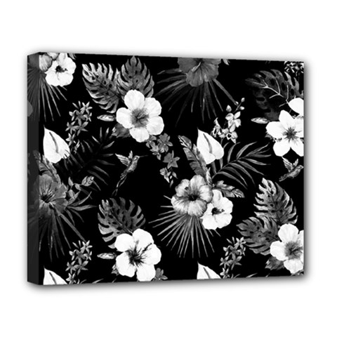 Tropical Pattern Deluxe Canvas 20  X 16   by Valentinaart