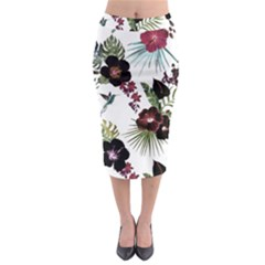 Tropical Pattern Midi Pencil Skirt by Valentinaart
