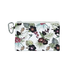 Tropical Pattern Canvas Cosmetic Bag (small) by Valentinaart