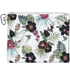 Tropical Pattern Canvas Cosmetic Bag (xxxl) by Valentinaart