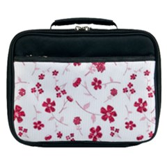 Sweet Shiny Floral Red Lunch Bag by ImpressiveMoments