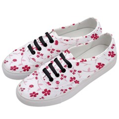 Sweet Shiny Floral Red Women s Classic Low Top Sneakers by ImpressiveMoments
