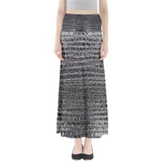 Silver Chain Maille Print Full Length Maxi Skirt by bloomingvinedesign