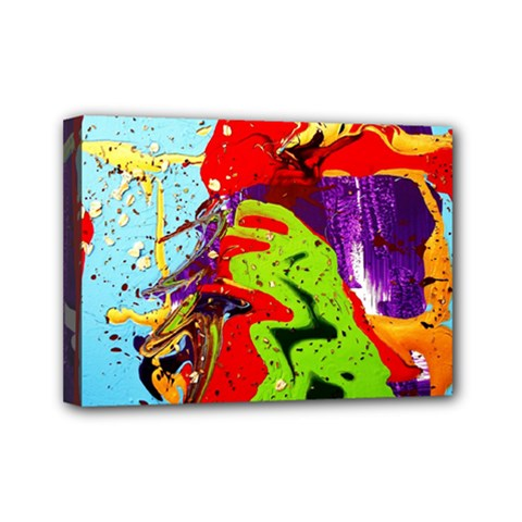 Untitled Island 5 Mini Canvas 7  X 5  by bestdesignintheworld