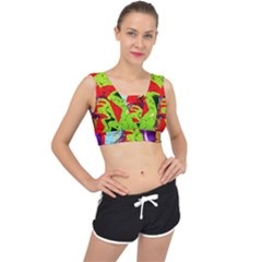 Untitled Island 5 V Back Sports Bra