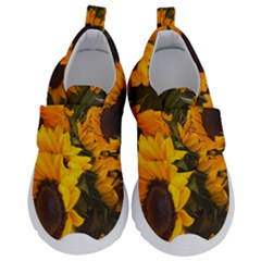 Sunflowers Velcro Strap Shoes