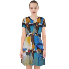 Abstract Adorable In Chiffon Dress